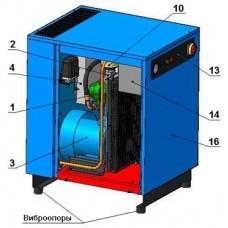 Винтовой компрессор без контроллера ВК10-8(10/15)