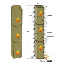 Прогрев колонны 2-ух сегментными термоматами